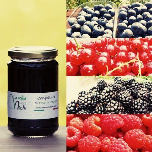 confettura extra ai frutti di bosco azienda agricola la collina di francesco minotti