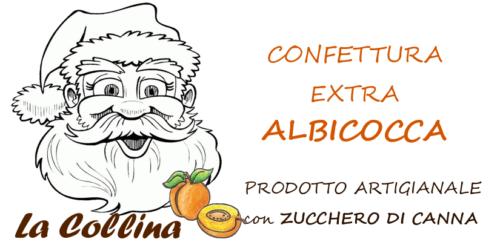 ETICHETTA confettura extra di albicocca 230 g NATALE