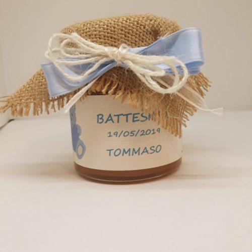 bomboniera marmellata battesimo